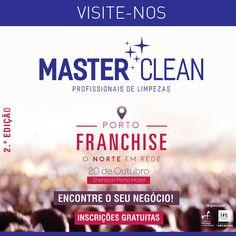"""VISITE-NOS AMANHA! DIA 20 DE OUTUBRO, ESTAMOS NA 2ª EDIÇÃO DO PORTO FRANCHISE NO """"SHERATON PORTO HOTEL"""".  https://www.facebook.com/mastercleanlimpezas/photos/a.1760550740853363.1073741828.1760548247520279/1812667182308385/?type=3&theater"""