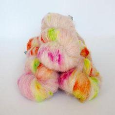 Qing Fibre Melted Baby Suri - 4ply Knitting Yarn | Tangled Yarn UK Suri Alpaca, Finger Weights, Needles Sizes, Knitting Yarn, Tangled, Yarns, Knits, Vibrant Colors, Fiber