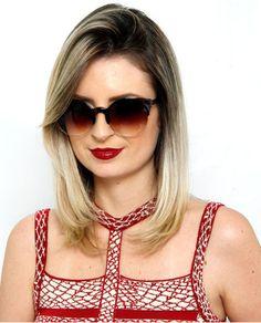 Óculos de sol marrom gatinho Pauline
