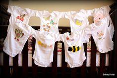 Schatzi's knits: Onesie Decorating Baby-Shower
