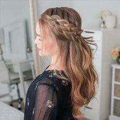 beautiful hair style ideas for long curly hair 32 Braids For Long Hair, Long Curly Hair, Curly Hair Styles, Easy Hairstyles For Medium Hair For School, Thin Hair, Box Braids, Brown Blonde Hair, Blonde Honey, Honey Balayage