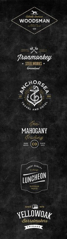 This pack includes 6 vintage style logo templates carefully crafted by Nicky Laatz. You can use them as part of your...