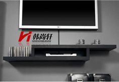 Simple clapboard TV set-top box CD shelf rack wall shelf wall-mounted TV shelf