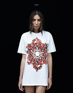 SUN white t-shirt - MARCELO BURLON COUNTY OF MILAN