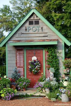 14 Whimsical Garden Shed Designs - Storage Shed Plans & Pictures #sheddesigns #gardensheddesigns #shedtips #sheds #shedstorage