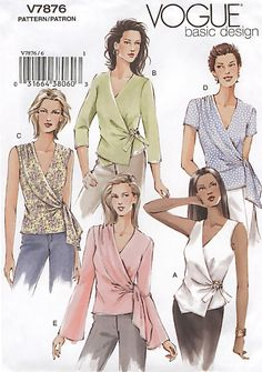 Vogur EASY basic misses tops sewing pattern - Wrap Tops ~ SOLD!