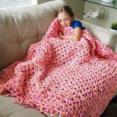 Easy Cozy Crochet Blanket - Free Pattern