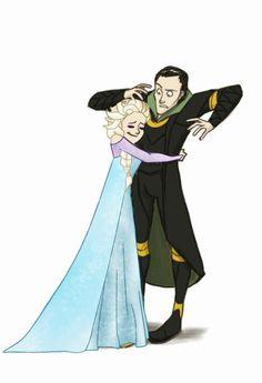 Loki & Elsa << THIS IS REALLY CUTE