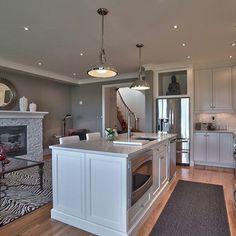 Open Concept Kitchen Living Room Paint Colours Design Ideas, Pictures, Remodel and Decor