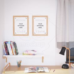 Frame product mockup 11x14 Set of two wooden frame by CGmockup