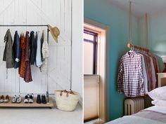 Araras, prateleiras e armários abertos para substituir o guarda-roupa - Notícias - Casa GNT