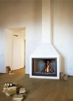 minimal modern fire place