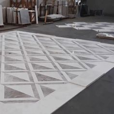 #Marble dry laying is a technique used to perfectly arrange each unique marble slab in a project. During the dry laying process, our factory specialists choose the best position for every single tile mimicking its final destination.⠀ Natural Stones, Marble, Tile, Interiors, Unique, Home Decor, Mosaics, Decoration Home, Room Decor