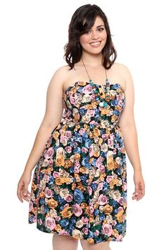 Rose Challis Tube Dress, $48.50