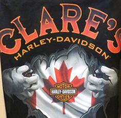 Clare's Harley-Davidson t-shirt Harley Davidson Posters, Harley Davidson Pictures, Harley Davidson Wallpaper, Used Harley Davidson, Harley Davidson T Shirts, Harley Davidson Motorcycles, Steve Harley, Harley Dealer, Harley Davidson Dealership