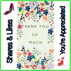 Floral Illustration - Thank You So Much print & pattern Birthday Greetings, Birthday Wishes, Happy Birthday, Birthday Cards, Flyer Layout, Thank You Images, Thank You Cards, Motif Floral, Floral Prints