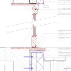 EWI to new door - Threshold and head with step Flush Doors, Passive House, Pattern Books, Wood Doors, Door Knobs, Building A House, Positivity, Wooden Doors, Wooden Gates