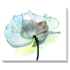 Gallery Direct Abstract Watercolor Flower Oversized Gallery Wrapped Canvas - 15280443 - Overstock.com Shopping - The Best Prices on Gallery Direct Gallery Wrapped Canvas