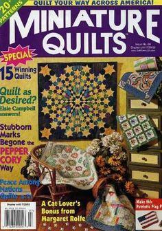 Miniature Quilts Magazine Issue #60 Vol 12 #2 July 2002 20+ Quilt Patterns #MiniatureQuiltsMagazine