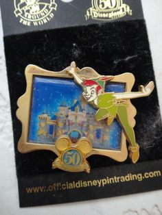 Collectible Peter Pan Pin for Disneyland 50th anniversary
