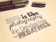 Typography: Life is like...