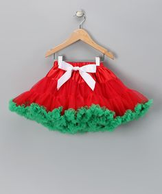 Love this Red & Green Ruffle Pettiskirt - Infant, Toddler & Girls by Royal Gem on #zulily! #zulilyfinds