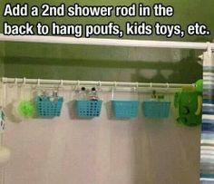 De-clutter the tub