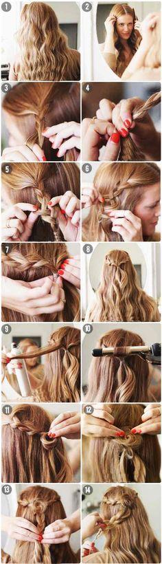 Peinados recogidos con trenza