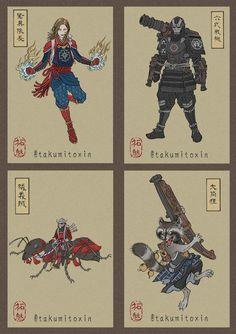 Avengers. Japan style. #endgame #avengersEndgame #avengers