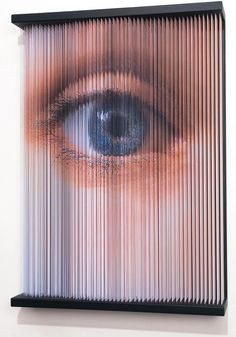 string mirror_eye print on elastic string steel frame 102 x 80 x