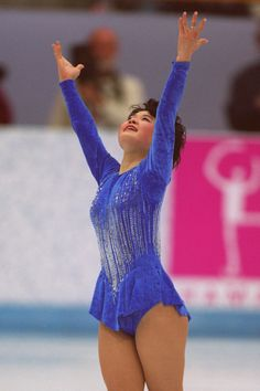 Yuka Sato, now a successful coach, competes at the 1994 Olympic Winter Gamer in Lillehammer.