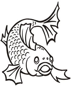 Catfish Coloring Pages | fish coloring pages, free coloring pages
