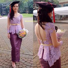 """Repost from and Kebaya Brokat, Dress Brokat, Kebaya Dress, Batik Kebaya, Batik Dress, Kimono, Kebaya Bali Modern, Kebaya Moden, Kebaya Jawa"