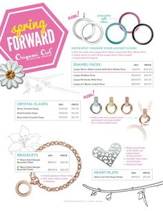 ♥ New #spingitems #2014 ♥ #origamiowl #livinglockets #color #interchangablefaces #loveoutlouddesigns #design #fashion #trends #gold #silver #rosegold #chains #wearitwell #origamiowllockets #lockets #life #love #origamiowlnecklace #jewelry #memories #tagged #charms #whatsyourstory #jewelrybar #makememories #tellstories #fabulous #follow me on #facebook #loveoutlouddesigns #pintrest #OOLoveOutLoud #shop with me on ↘↘↘ Www.DeniseTatler,origamiowl.com