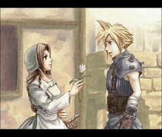 Aerith and Cloud as they appear in final fantasy tactics Fantasy Games, Fantasy, Final Fantasy Tactics, Final Fantasy, Cartoonist, Final Fantasy Collection, Fantasy Art, Disney Kingdom Hearts, Cg Artwork