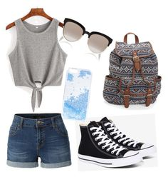 """""""Untitled #1"""" by eliza-schylar-hamilton ❤ liked on Polyvore featuring LE3NO, Converse, Aéropostale, Skinnydip and Christian Dior"""