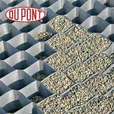 Driveway... DuPont GroundGrid Ground Stabilization (4' x 25') - Small Grid