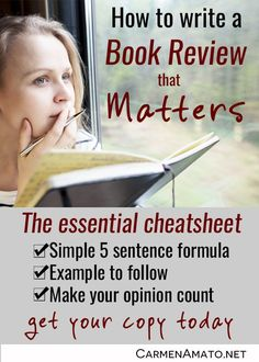 You'll get the 5 Sentence Formula, with a book review example to follow. It's that simple.
