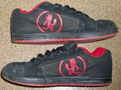 Psychopathic Records Hatchet Rydas Red Black Size 8 Sneakers Shoes ICP Twiztid