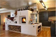 Печь дровяная для отопления дома  что есть финская печь