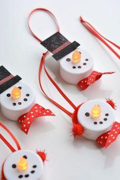 Tea Light Snowman Ornaments | one little project | one little project | Bloglovin'