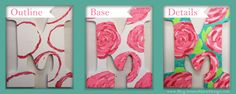 Greek Letters   Mu / M   DIY/Crafts   Make your own Lilly Letters!!! Lilly pattern, floral #sorority #love #letters