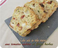 Cake salé au tofu soyeux tomates séchées & fines herbes Excellent  Dessert Tofu, Vegan Quiche, Cake Chocolat, Salty Cake, Tempeh, Lactose Free, Biscuits, Vegetarian Recipes, The Cure