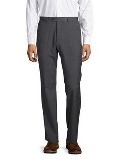 GIORGIO ARMANI Textured Wool Pants. #giorgioarmani #cloth #pants
