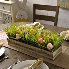 Celebrate Easter with everyone's favorite tradition — home decor style. Add the Easter Egg Hunt Centerpiece to your dining room table, coffee table or console table for a festive holiday touch! decorations for the home Kirkland's Easter Party, Easter Table, Easter 2018, Easter Brunch, Easter Gift, Hoppy Easter, Easter Eggs, Decoration Ikea, Décor Antique