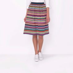Ric Rac Hem Cotton Skirt | CathKidston - flat front & elasticated back waistband