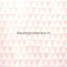 Triangles rose 354081 | behang Tout Petit van Eijffinger | kleurmijninterieur.nl
