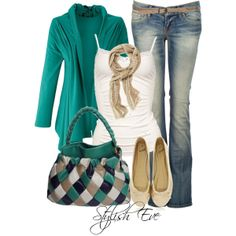 """""""Noha"""" by stylisheve on Polyvore. I have a purple sweater like that one"""