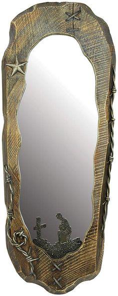 Western Hall Mirror #western #hallmirror #mirror #westerndecor #westernmirror #rustichome #rusticmirror #westernhome #affiliate