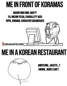 haha so true. Im very reluctant show use my Korean in front of Koreans haha #^^#